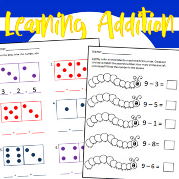 Learning addition- beginners worksheets