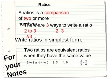 Learning all about Ratios!