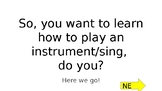 Learning an Instrument