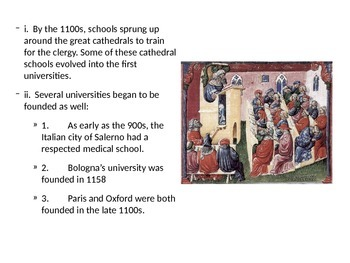 Learning and Culture of Medieval Europe Powerpoint