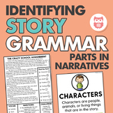 Learning and Identifying Story Grammar Parts in Narratives
