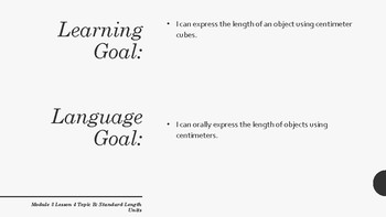 Learning and Language Goals for Eureka Module 3