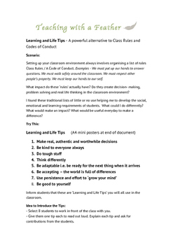 Class Rules - Learning and Life Tips - a powerful alternative to class rules
