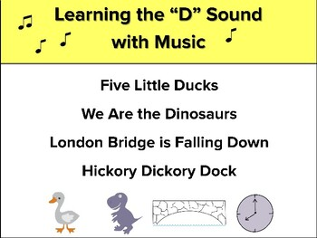 Learning Beginning Sounds With Music, Speech Therapy, Early Intervention