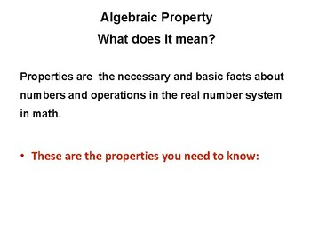Learning and Using Algebraic Properties