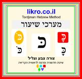 Learning to read the letter כ (kaf/khaf)   Tordjman Hebrew Reading Method