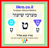 Learning the Hebrew consonants and vowels  Tordjman Hebrew