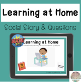 Learning at Home Boom Cards™ *FREEBIE* No Print Social Sto