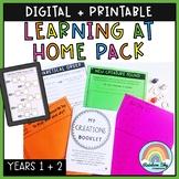 Learning at Home Pack: Year 1-2: Digital & Printable Versi