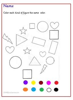 Learning colors -3 page worksheets