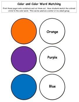 Learning colors: Kindergarten