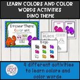 Learning colors activities preschool  kindergarten dinosaur theme
