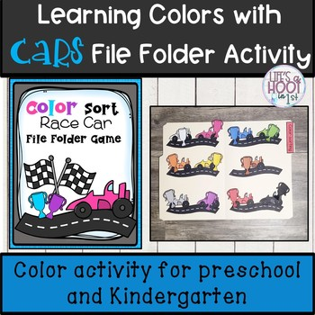 Learning colors with cars File folder sort for colors
