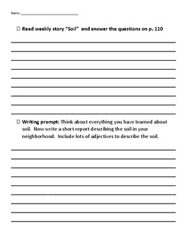 Learning contract for Unit 4 Week 3 of Second Grade Reading Street