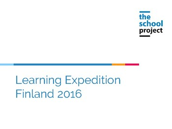 Learning expedition in Finland