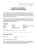 Learning from Artifacts Partner Activity