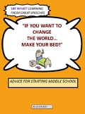 Learning from Great Speeches: If You Want to Change the World, Make Your Bed!