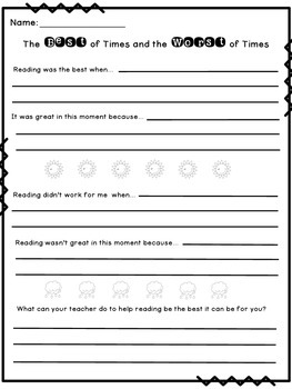 Learning from the Best and Worst Reading Times Template