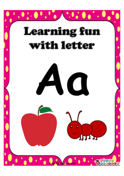 Learning fun with letter Aa