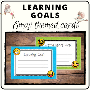 Learning goals emoji theme