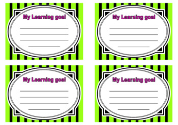 Learning goals neon brights theme