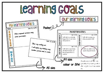 Learning goal record sheet and display