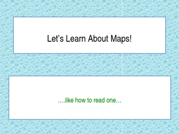Learning how to read maps PowerPoint