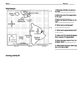 Learning how to read maps worksheet