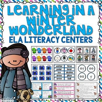 Winter Language Arts Literacy Centers