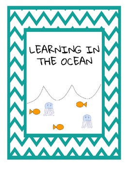 Learning in the Ocean; math, letter sounds, and craft printables