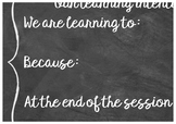 Learning intention display poster