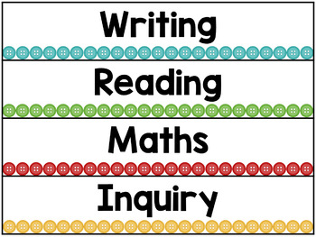 Learning intention headings - buttons theme