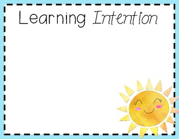 Learning intention/visual learning posters Summer Lovin' #austeacherbfr
