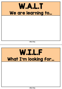 Learning intentions display pack