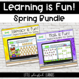 Learning is Fun!  Spring Math & Literacy Bundle for Seesaw
