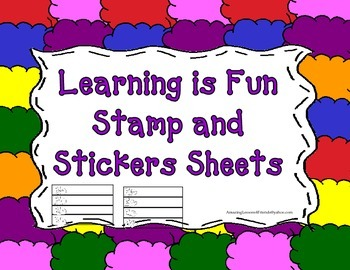 Learning is Fun Sticker and Stamp Sheets