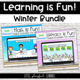 Learning is Fun! Winter Math & Literacy Bundle for Seesaw