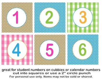 Learning is a Hoot Calendar/ Classroom Numbers