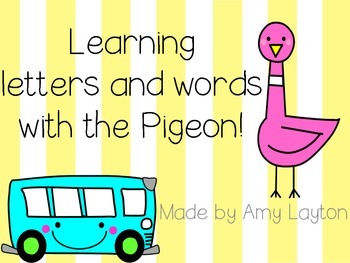 Learning letters and word with the pigeon!