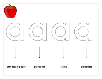 Learning lower case letters using tactile methods