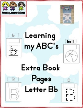 Learning my ABC's Extra Pages Letter Bb Book