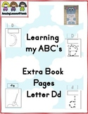 Learning my ABC's Extra Pages Letter Dd