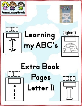Learning my ABC's Extra Pages letter Ii