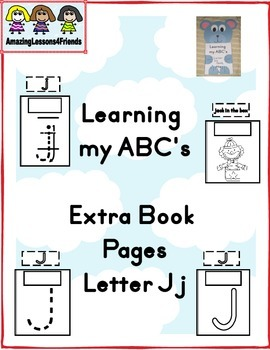 Learning my ABC's Extra Pages letter Jj