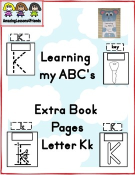 Learning my ABC's Letter Kk Extra Pages