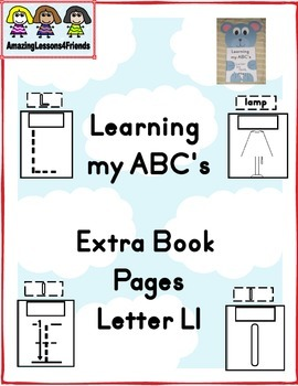 Learning my ABC's Letter Ll Extra Page