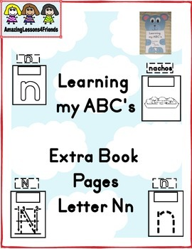 Learning my ABC's Letter Nn Extra Pages