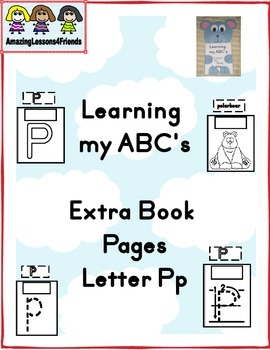 Learning my ABC's Letter Pp Extra Pages