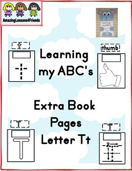 Learning my ABC's Letter Tt Extra Pages