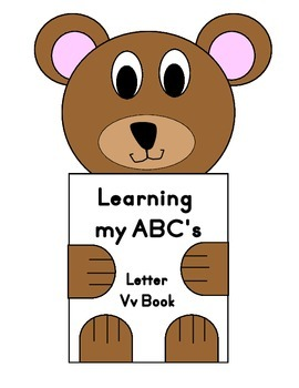Learning my ABC's Letter Vv Book